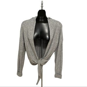Ruby Moon Open Front Hooded Cardigan Size Medium
